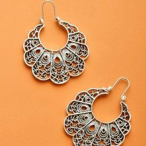 Silver hook earring